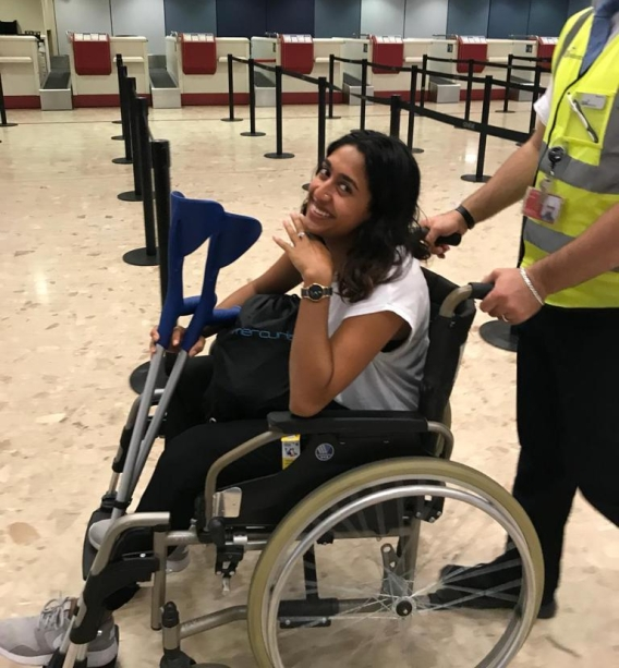 One of many airport wheelchair experiences